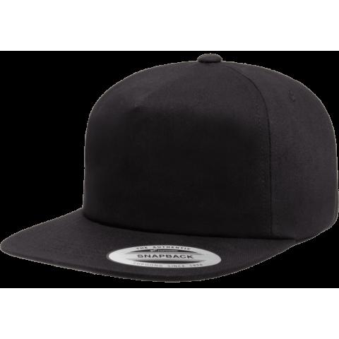 Кепка FlexFit 6502 - Unstructured 5-Panel Snapback Black