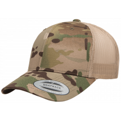 Кепка FlexFit 6606MC Retro Trucker - Khaki Multicam