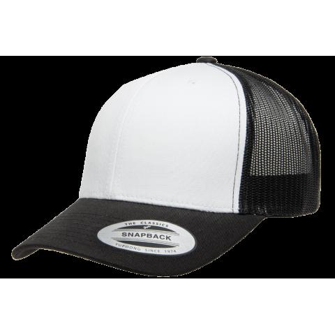 Кепка FlexFit 6606W Retro Trucker - Black/White/Black