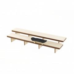 Фингерпарк PARS Stadium Double Bench деревянный верх