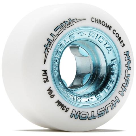 Колеса для скейта RICTA Nyjah Huston Chrome Core White Teal 99a
